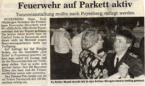 Feuerwehrball Poyenberg 1990